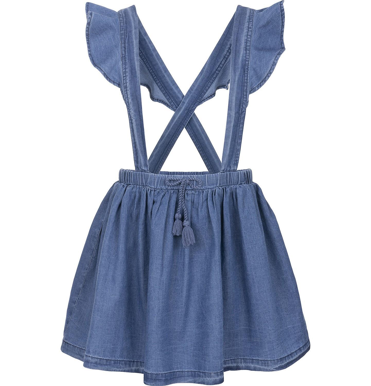 Endo - Spódnica jeansowa na szelkach dla dziewczynki 3-8 lat D91J003_1