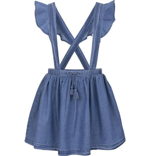 96494be240fb5b Endo - Spódnica jeansowa na szelkach dla dziewczynki 3-8 lat D91J003_1