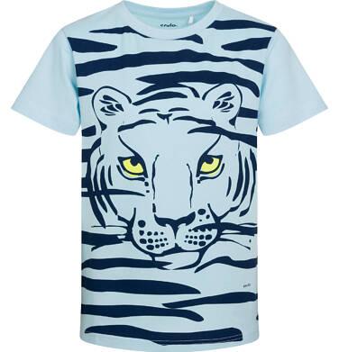 Endo - T-shirt z krótkim rękawem dla chłopca, z tygrysem, niebieski, 9-13 lat C05G066_1 35