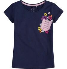 Bluzka z krótkim rękawem dla dziewczynki 9-13 lat D71G679_2