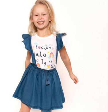 Endo - Spódnica jeansowa na szelkach dla dziewczynki 9-13 lat D91J503_1