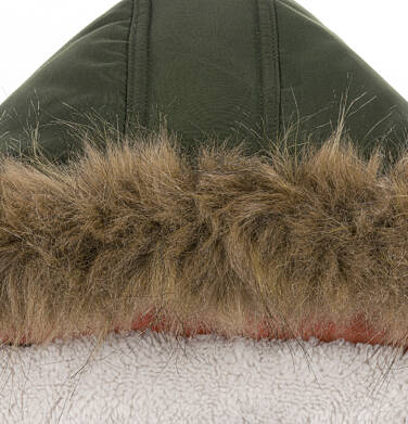 Endo - Zimowa kurtka parka dla chłopca 9-13 lat, Nawet po zmroku jestem na widoku, ciemnozielona C92A502_2