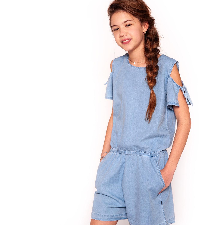 Endo - Kombinezon jeansowy dla dziewczynki 3-8 lat D91K011_1