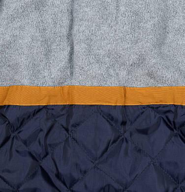 Endo - Zimowa kurtka parka dla chłopca 3-8 lat, musztardowa, z futrzastym kapturem, ciepła C92A004_1,6