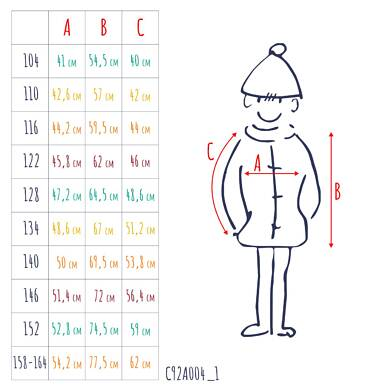 Endo - Zimowa kurtka parka dla chłopca 3-8 lat, musztardowa, z futrzastym kapturem, ciepła C92A004_1,3