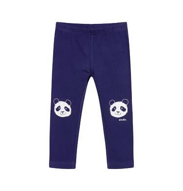 Endo - Legginsy dla dziecka do 2 lat, z pandą, granatowe N03K045_1