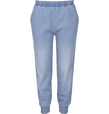 Spodnie jeansowe ze ściągaczami dla dziewczynki 3-8 lat D91K018_1