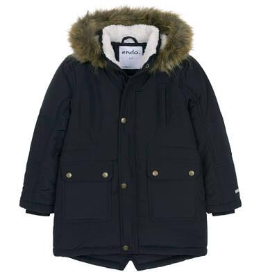 Endo - Zimowa kurtka parka dla chłopca 3-8 lat, Stop, widzisz mnie, grafitowa, ciepła C92A004_2,1