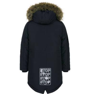 Endo - Zimowa kurtka parka dla chłopca 3-8 lat, Stop, widzisz mnie, grafitowa, ciepła C92A004_2,8