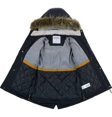 Endo - Zimowa kurtka parka dla chłopca 3-8 lat, Stop, widzisz mnie, grafitowa, ciepła C92A004_2,6