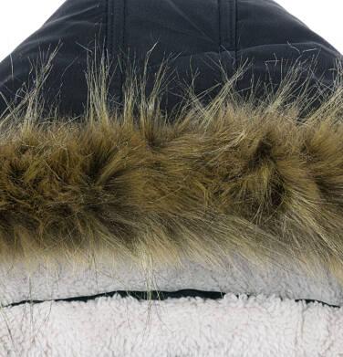 Endo - Zimowa kurtka parka dla chłopca 3-8 lat, Stop, widzisz mnie, grafitowa, ciepła C92A004_2,4