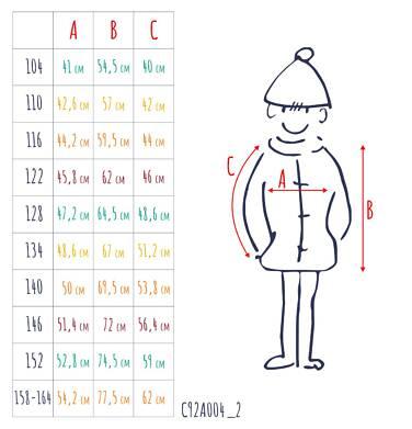 Endo - Zimowa kurtka parka dla chłopca 3-8 lat, Stop, widzisz mnie, grafitowa, ciepła C92A004_2,7