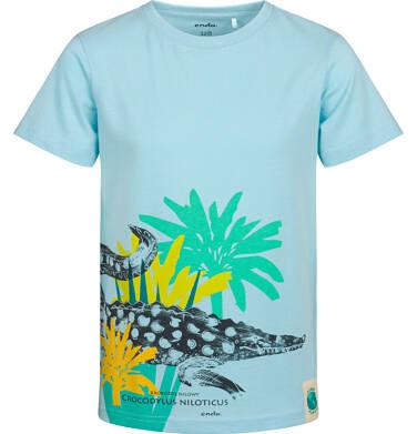 Endo - T-shirt z krótkim rękawem dla chłopca, z kajmanem, niebieski, 2-8 lat C05G085_1 3
