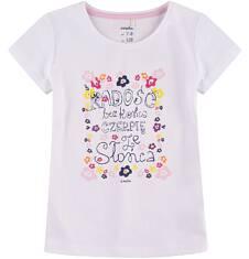 Bluzka z krótkim rękawem dla dziewczynki 9-13 lat D71G678_1