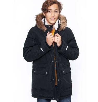 Endo - Zimowa kurtka parka dla chłopca 9-13 lat, Stop, widzisz mnie, grafitowa, ciepła C92A504_2,3