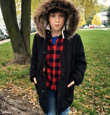 Endo - Zimowa kurtka parka dla chłopca 9-13 lat, Stop, widzisz mnie, grafitowa, ciepła C92A504_2 1