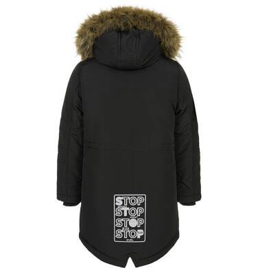 Endo - Zimowa kurtka parka dla chłopca 9-13 lat, Stop, widzisz mnie, czarna, ciepła C92A504_2,4