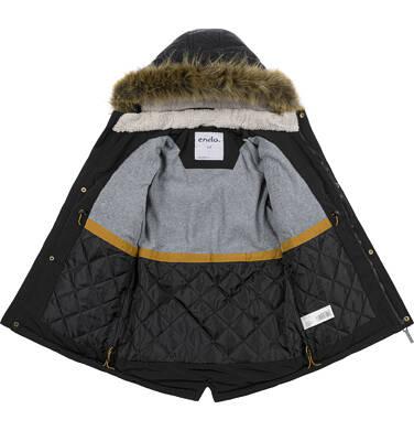 Endo - Zimowa kurtka parka dla chłopca 9-13 lat, Stop, widzisz mnie, czarna, ciepła C92A504_2,5