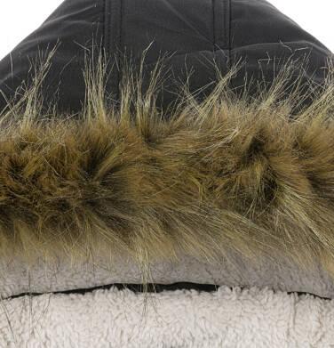 Endo - Zimowa kurtka parka dla chłopca 9-13 lat, Stop, widzisz mnie, czarna, ciepła C92A504_2,7