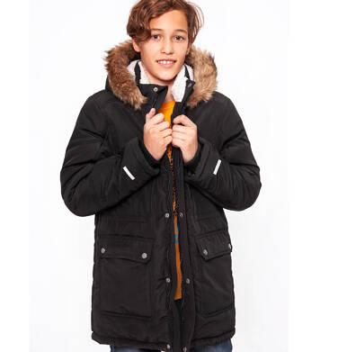 Endo - Zimowa kurtka parka dla chłopca 9-13 lat, Stop, widzisz mnie, czarna, ciepła C92A504_2,2