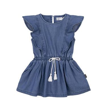 Sukienka z krótkim rękawem dla dziecka 0-3 lata N91H017_1