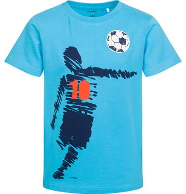 Endo - T-shirt z krótkim rękawem dla chłopca, z piłkarzem, niebieski, 9-13 lat C05G097_1 19