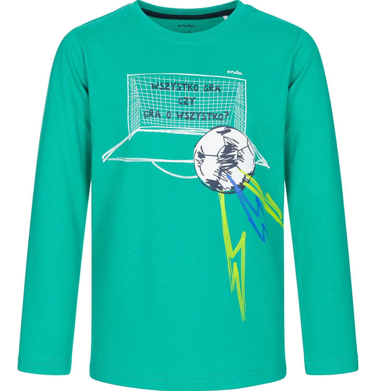 Endo - T-shirt z długim rękawem dla chłopca, wszystko gra, zielony, 3-8 lat C92G025_1