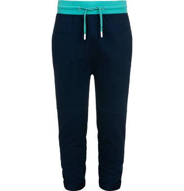 Endo - Spodnie dresowe dla chłopca, z obniżonym krokiem, granatowe, 9-13 lat C05K019_2,1
