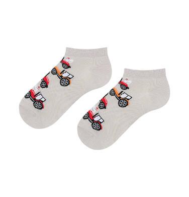 Endo - Kolorowe skarpetki stopki dziecięce w traktory C06P001_1 202