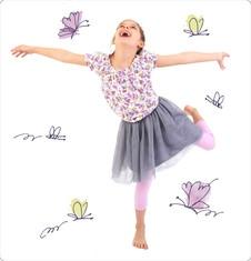 Zestaw dla małej dziewczynki z linii Lawendowy ogród D128_M