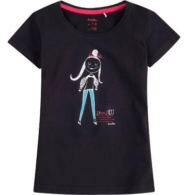 Endo - Bluzka z krótkim rękawem dla dziewczynki 4-8 lat D71G160_2