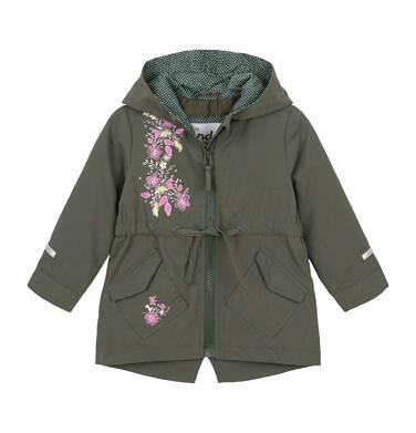 Endo - Przejściowa kurtka dla małego dziecka, ciemnozielona, kaptur w kropki N91A016_1