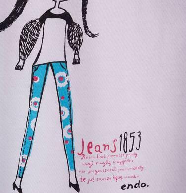 Endo - Bluzka z krótkim rękawem dla dziewczynki 9-13 lat D71G660_1