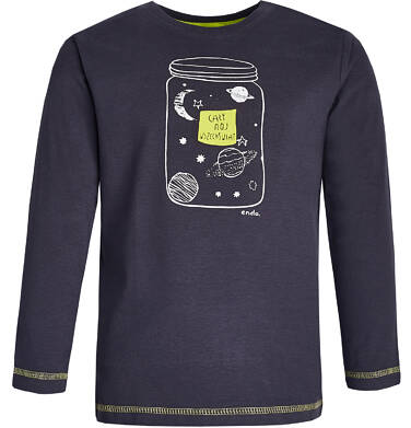 """Endo - """"Cały mój wszechświat"""" T-shirt z długim rękawem dla chłopca 3-8 lat C82G055_1"""