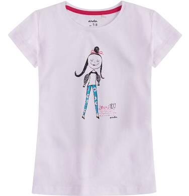 Endo - Bluzka z krótkim rękawem dla dziewczynki 4-8 lat D71G160_1