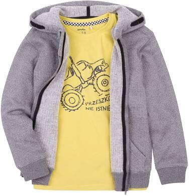 Ciepła rozpinana bluza z kapturem dla chłopca 3-8 lat C72C024_1