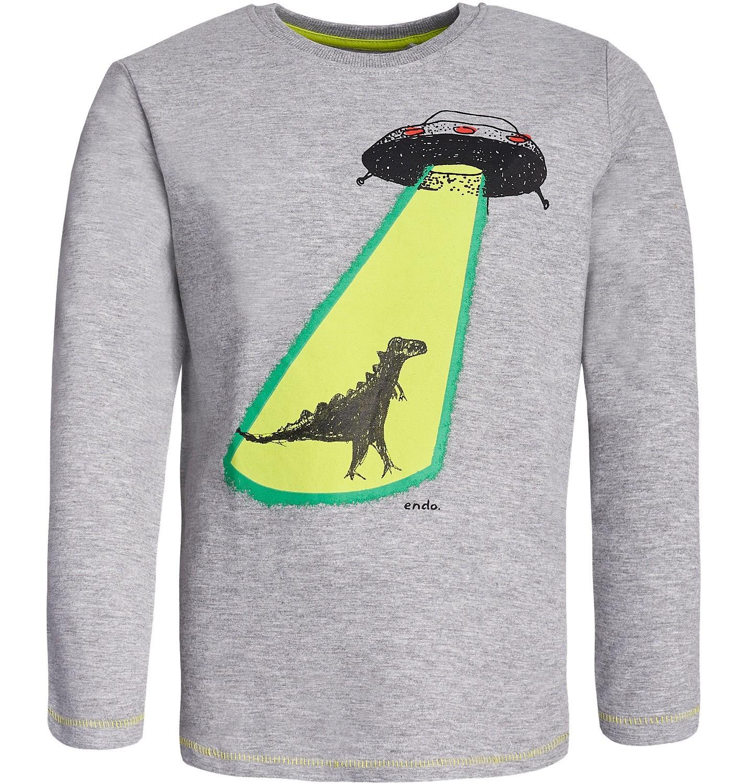 Endo - T-shirt z długim rękawem dla chłopca 9-13 lat C82G558_1