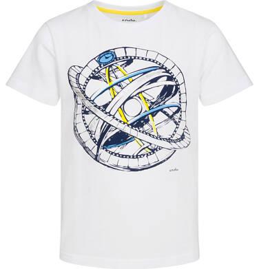 T-shirt z krótkim rękawem dla chłopca, z przyrządem astronomicznym, biały, 2-8 lat C05G144_1