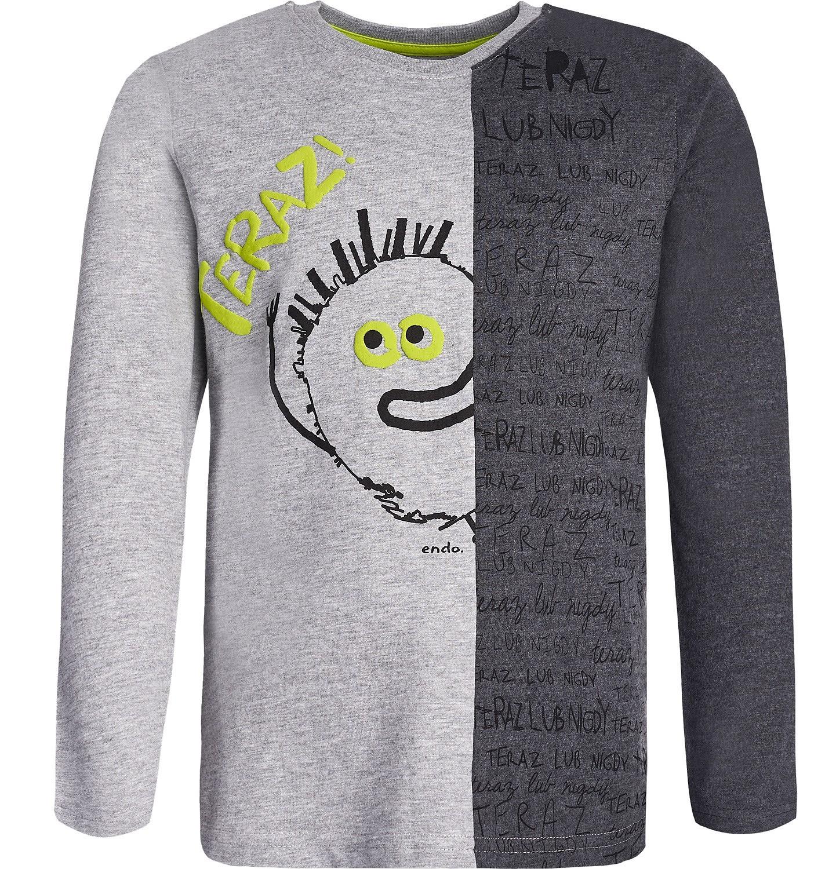 Endo - T-shirt z długim rękawem dla chłopca 3-8 lat C82G060_1