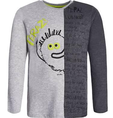 Endo - T-shirt z długim rękawem dla chłopca 9-13 lat C82G560_1