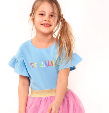 T-shirt z krótkim rękawem dla dziewczynki 9-13 lat D91G507_2