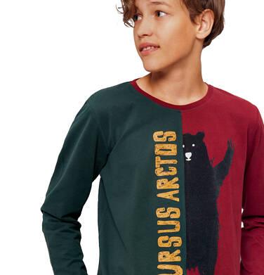 Endo - T-shirt z długim rękawem dla chłopca 9-13 lat C92G587_1