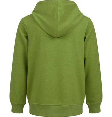 Endo - Rozpinana bluza z kapturem dla chłopca, z samochodem, zielona, 9-13lat C03C512_1,2