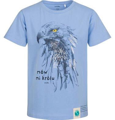 Endo - T-shirt z krótkim rękawem dla chłopca, z orłem, niebieski, 9-13 lat C05G161_1 30