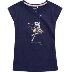 Bluzka z krótkim rękawem dla dziewczynki 9-13 lat D71G601_1