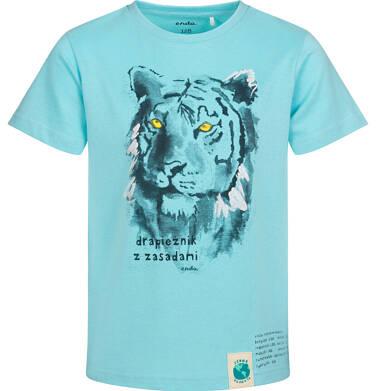 Endo - T-shirt z krótkim rękawem dla chłopca, z tygrysem, niebieski, 2-8 lat C05G173_2 17