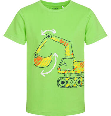 Endo - T-shirt z krótkim rękawem dla chłopca, z koparką, zielony, 2-8 lat C05G174_1 11