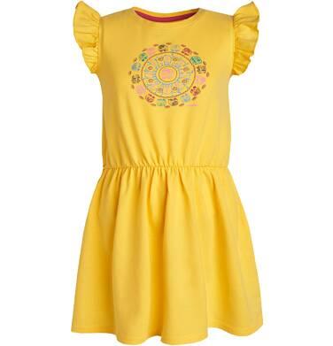 Endo - Sukienka z krótkim rękawem dla dziewczynki 3-8 lat D81H052_1