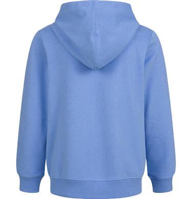 Endo - Rozpinana bluza z kapturem dla chłopca, z nosorożcem, niebieska, 2-8 lat C03C014_1,2
