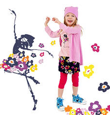 Krótka spodenko-spódniczka dla dziewczynki 4-8 lat D71K051_1